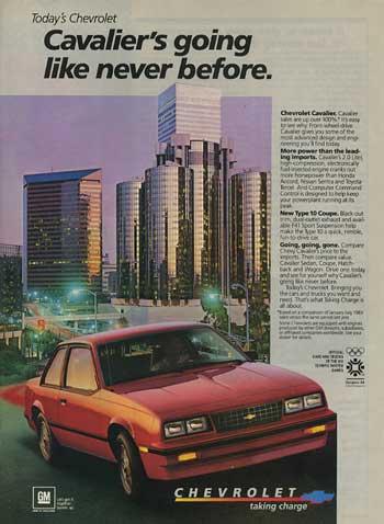 Chevrolet Cavalier 1982 foto - 1